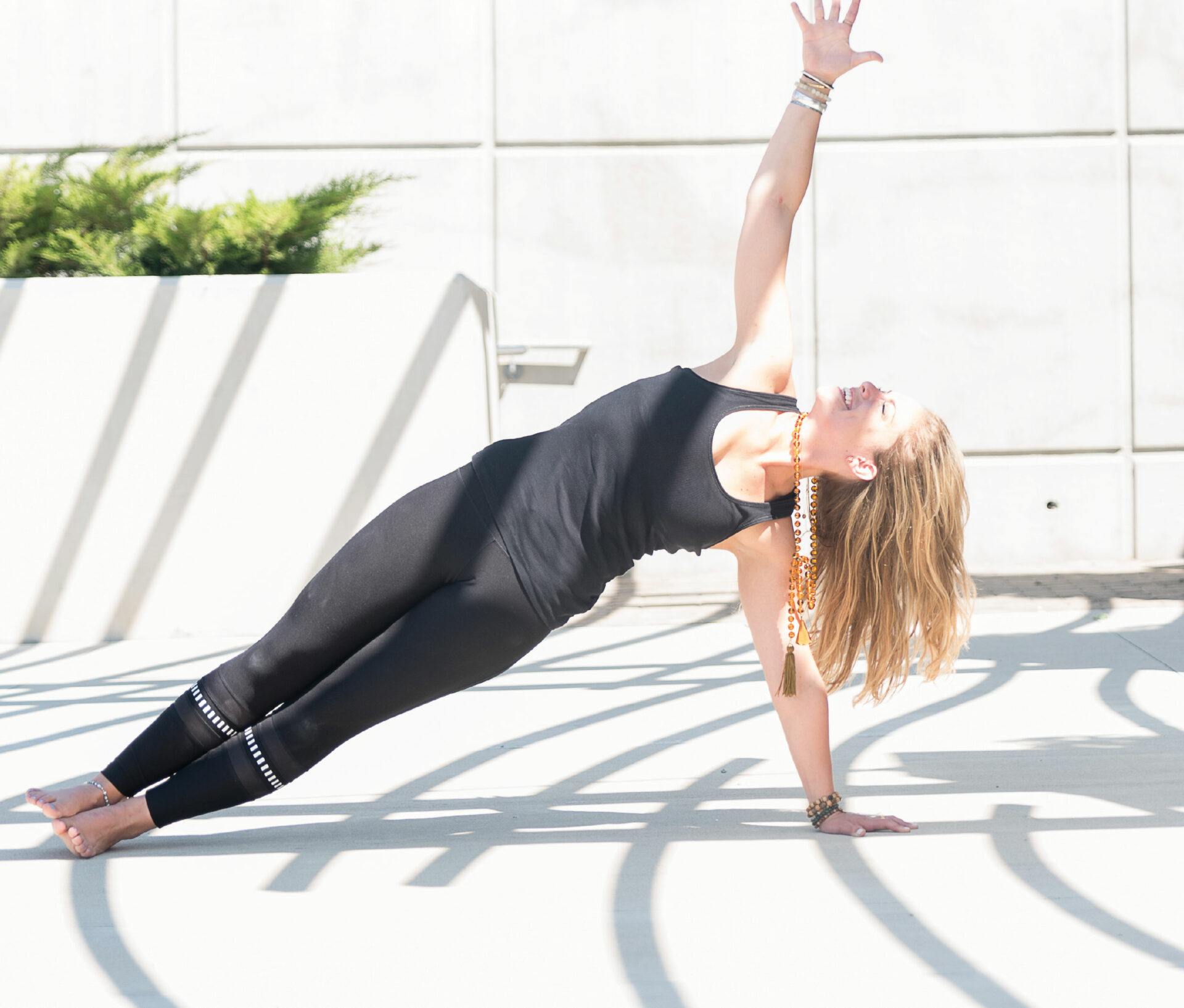 yoga, side plank, aligned, highest self